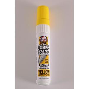SUPER MET-AL 07601 Oil Based Jumbo Paint Marker, Yellow, 48PK | AJ8FKV