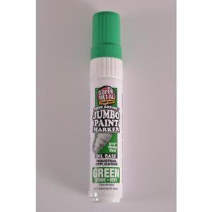 SUPER MET-AL 07604 Oil Based Jumbo Paint Marker, Green, 48PK | AJ8FKY