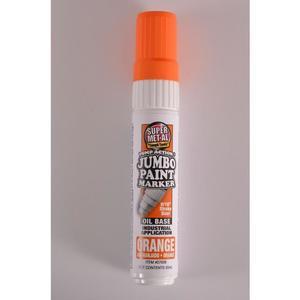 SUPER MET-AL 07606 Oil Based Jumbo Paint Marker, Orange, 48PK | AJ8FLA