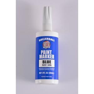 SUPER MET-AL 42005 Rollerball Paint Marker, 2 oz, Blue, 24PK | AJ8FMB