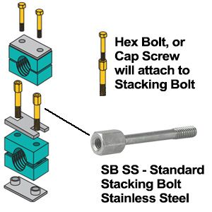 ZSI SB7SS Stacking Bolt, Stainless Steel | CF3YRY